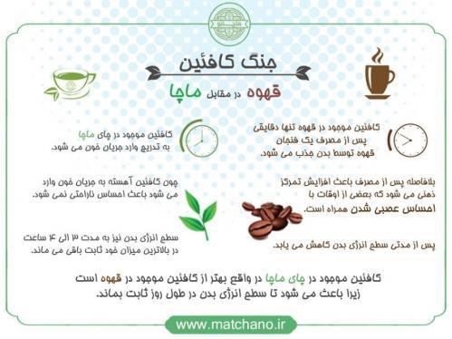 مقایسه ماچا و قهوه